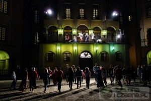 Noc muzeów na terytorium pałacu w Nieświżu.
