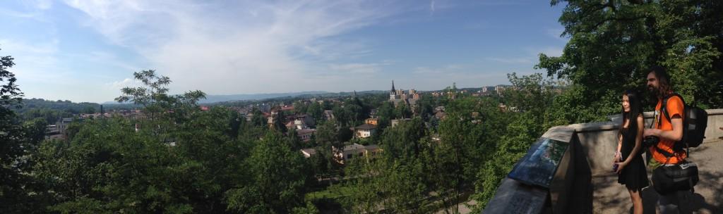 Panorama Cieszyna ze Wzgórza Zamkowego. Święto Herbaty 2015. fot Marcin Szymanik