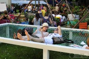 Święto Herbaty - odpoczynek na hamaku. Zdjęcia. Galeria