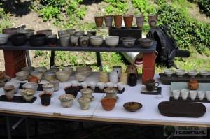 Świeto Herbaty Cieszyn 2015 stoisko z ceramiką dla herbaty