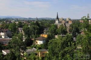 Widok ze Wzgórza Zamkowego w Cieszynie. Święto Herbaty 2015